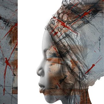 26. Vrouw, silhouet, portret, Grace. van Alies werk