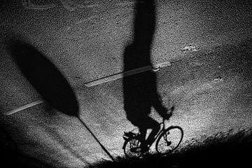 Schatten eines Radfahrers, Niederlande von Nick Hartemink