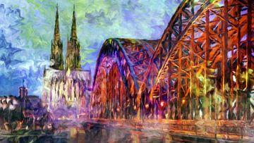 Hohenzollernbrücke in Köln von Marion Tenbergen