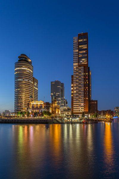 Rotterdam Skyline - Wilhelminapier - 3 van Tux Photography