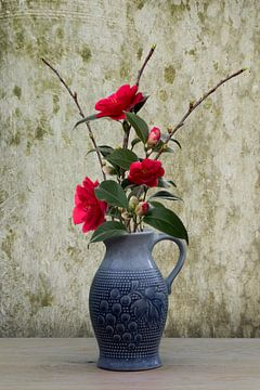 stilleven bloemen  in een vaas van Klaartje Majoor