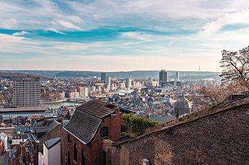 Uitzicht Montagne de Bueren over Luik Liège  van Midi010 Fotografie