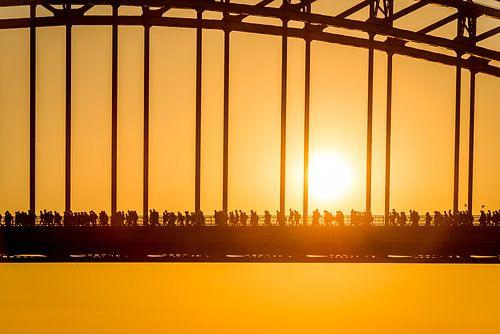 Vier -Tage-Marsch Nijmegen Waal Brücke von Sander Peters Fotografie