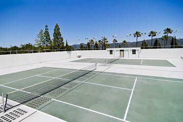 Tennisplätze neben Hearst Castle, Kalifornien von Lars-Olof Nilsson