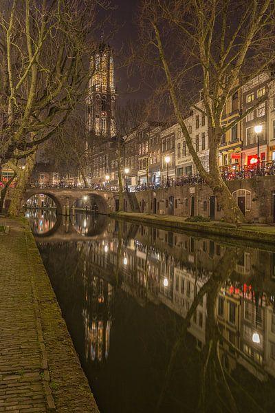 Utrecht by Night - Oudegracht, Gaardbrug en Domtoren