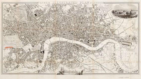 Payne's illustrated plan of London van Rebel Ontwerp