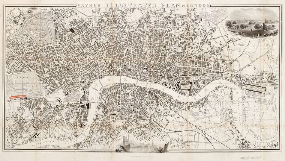 Payne's illustrated plan of London