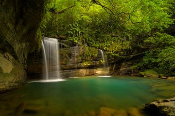 Wanggu Wasserfall in Nord-Taiwan von Jos Pannekoek