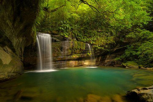 Wanggu waterval in noord Taiwan van
