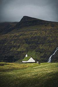 Kerkje op de Faeröereilanden van