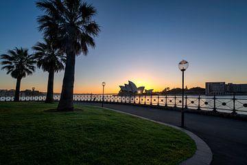 L'opéra de Syndey avec le lever du soleil