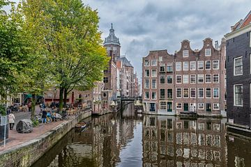 Vanaf de Armbrug in Amsterdam.