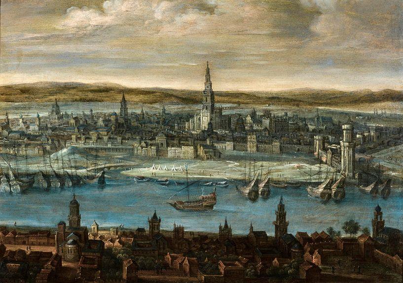 Ansicht von Sevilla, Louis de Caullery von Meesterlijcke Meesters