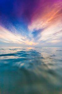 Zonsondergang zee van
