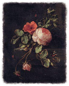 Oude Meesters serie #10 - Stilleven met rozen, Elias van den Broeck
