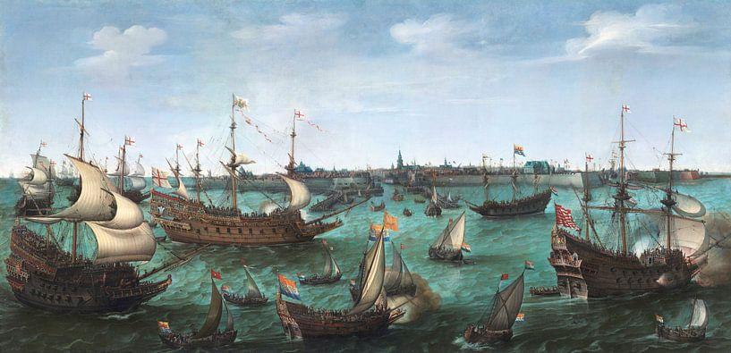 The Arrival of the Elector Frederick V of the Palatinate and Elizabeth Stuart, Hendrick Cornelisz Vr sur Meesterlijcke Meesters