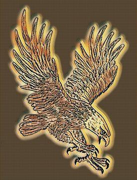 Adler im Picasso-Stil von Jose Lok