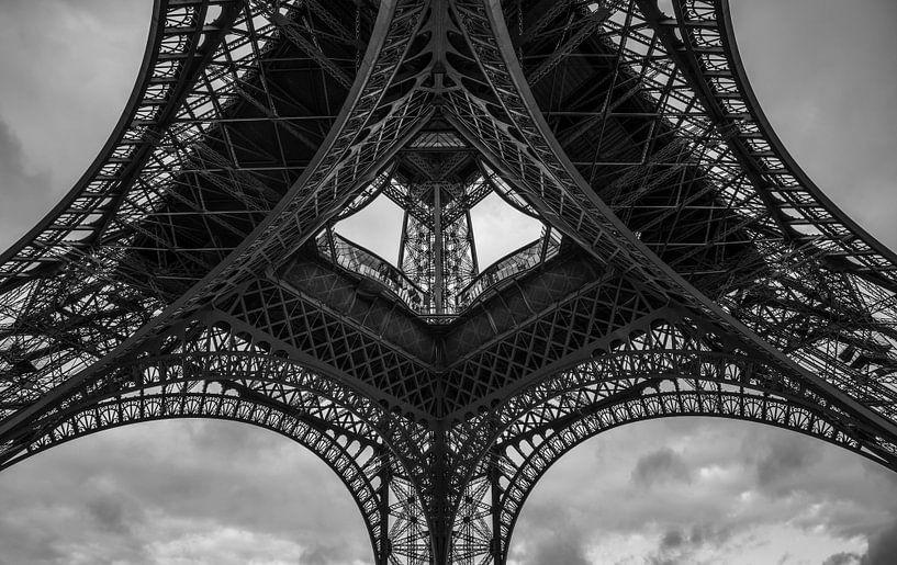Eiffelturm in schwarz weiss van Hans Altenkirch