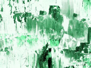 Abstract in groen en wit (IV) van Maurice Dawson