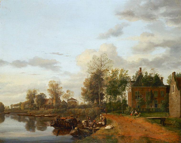 Landhaus an der Vliet in der Nähe von Delft, Jan van de Heyden von Meesterlijcke Meesters