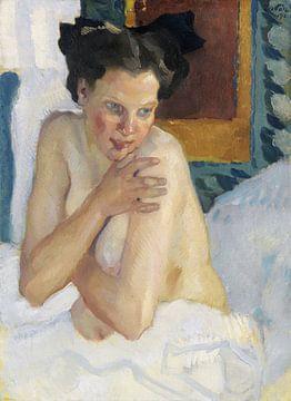 Erwachen (Sitzender Halbakt), LEO PUTZ, 1912