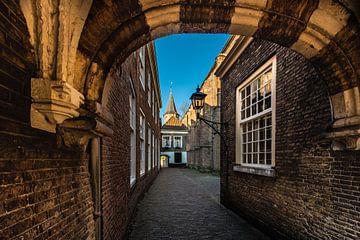 Delft de doorgang naar het Hofje van Brian Morgan