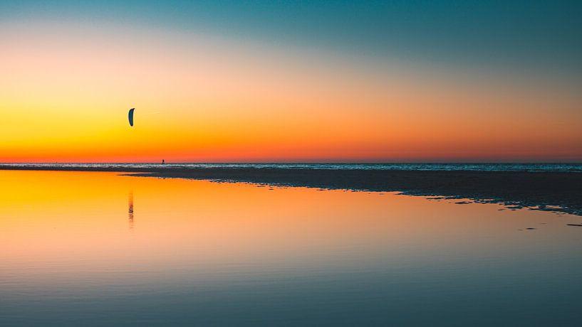 Breezand zonsondergang 5 van Andy Troy