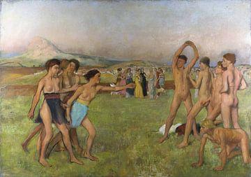 Junge Spartaner beim Üben, Edgar Degas