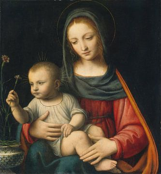 Die Nelken-Madonna, Bernardino Luini von Elize Fotografie