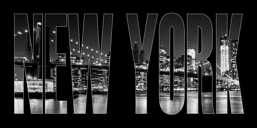 New York City Brooklyn Bridge b/w II sur Melanie Viola