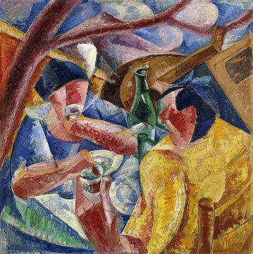 Umberto Boccioni, Onder de pergola in Naples - 1914 van Atelier Liesjes