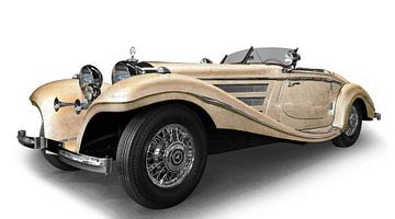Mercedes-Benz 540 K speciale roadster in antieke gemzen van aRi F. Huber
