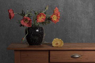 Mohnblumen von Sylvia Van Dijk