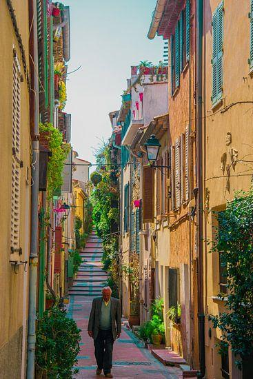 Street of Antibes van Justin Travel