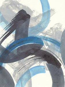 Blau Brushy Zusammenfassung II, Danhui Nai