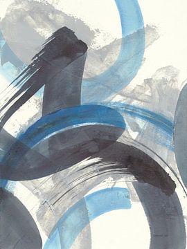 Blue Brushy Abstract II, Danhui Nai van Wild Apple