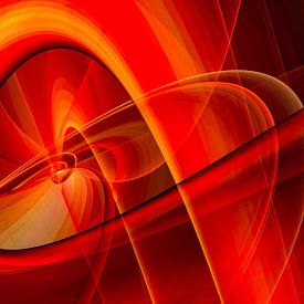 Lignes et courbes rouge orangé sur Max Steinwald