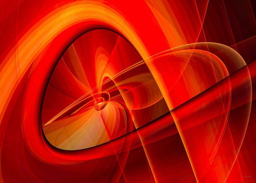Linien und Kurven orange rot von Max Steinwald