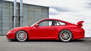 Porsche 911 GT3 Type 997 in origineel indiaans rood van aRi F. Huber