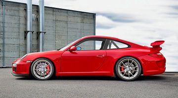 Porsche 911 GT3 Type 997 in origineel indiaans rood