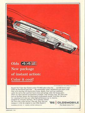 Vintage print kunst Oldsmobile '65 von Jaap Ros