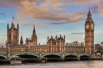 LONDON Houses of Parliament & Westminster Bridge von Melanie Viola