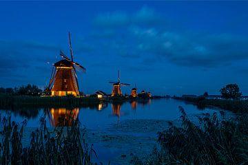 Mühlen Kinderdijk - Beleuchtete Mühlen von Fotografie Ploeg