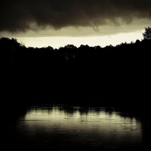 Dark rain van Dick Nieswaag
