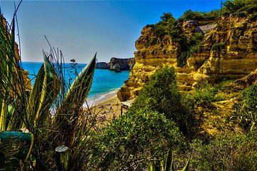 Verborgen strand in de Algarve van Nynke Nicolai