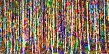 Bunte Birken,abstrakt von Marion Tenbergen