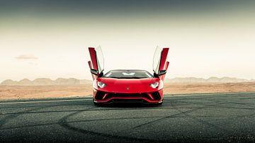 Lamborghini Aventador S Roadster vs. desert roads III van Dennis Wierenga
