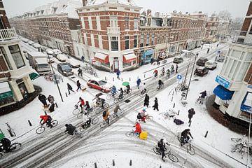 Weimarstraat in de sneeuw van