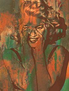 Madonna - Grunge - Dirty Smile Military Green  van