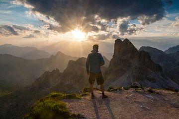 Zonsondergang in de Dolomieten van Jonathan Vandevoorde